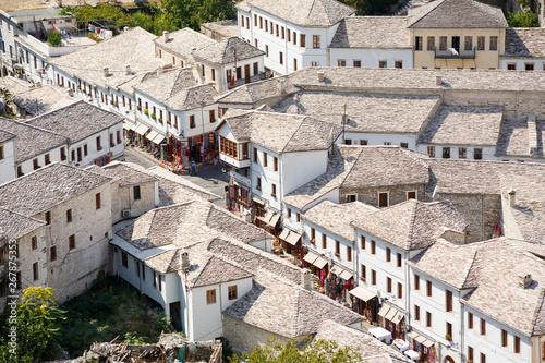 Photo Gjirokastra, Albania. Old town center