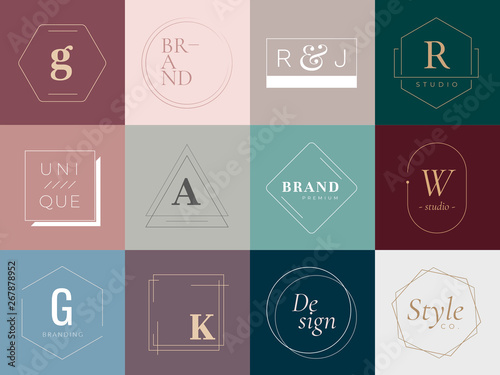 Logos and badges Wallpaper Mural