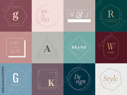 Logos and badges Fototapet