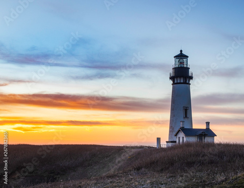 Fototapety, obrazy: Yaquina Head Lighthouse in Oregon