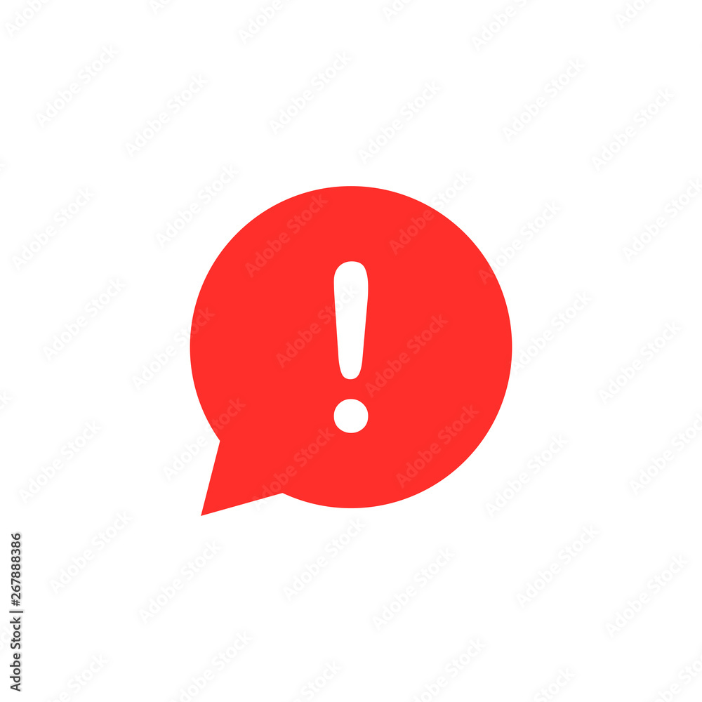 Fototapety, obrazy: exclamation mark vector