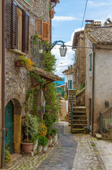 Fototapeta na wymiar Torri in Sabina (Italy) - A little medieval village in the heart of the Sabina, Lazio region, during the spring