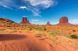 Leinwandbild Motiv Sand dunes of desert in Monument Valley in Arizona, USA.
