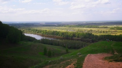 Fototapeta na wymiar landscape with river