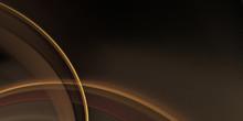 Dark Brown Background With Golden Arcs For Design