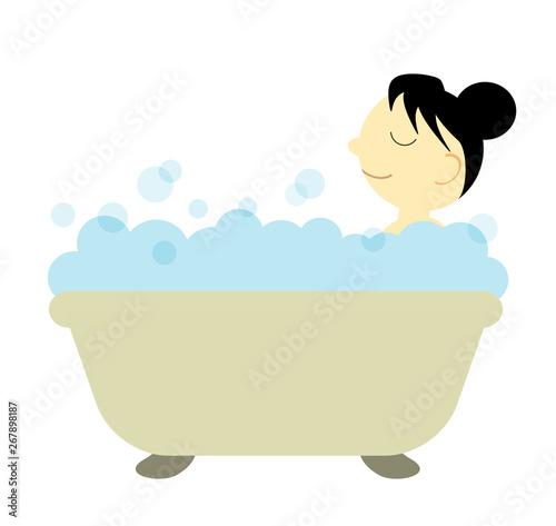 Obraz na plátně 入浴中の女性