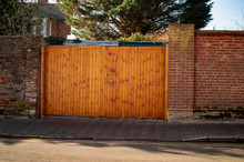 The Wood Gate Of Building In The Town Of Uk