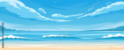 Fototapeta Simple ocean landscape obraz