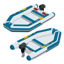 Isometric Inflatable Boat. A M...