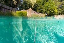 Swimming Pool Backyard Split Screen