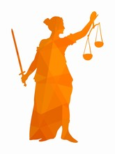 Illustration Of The Statue Of Justice , Vector Draw