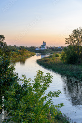 Photo Church of Elijah the Prophet on the bank of the river Kamenka - Suzdal Russia
