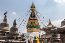 Swayambhunath Is An Ancient Religious Architecture Atop A Hill In The Kathmandu Valley.Swayambhunath Is Also Known As The Monkey Temple