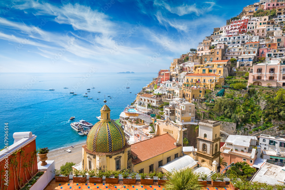 Fototapety, obrazy: Beautiful Positano, Amalfi Coast in Campania, Italy.