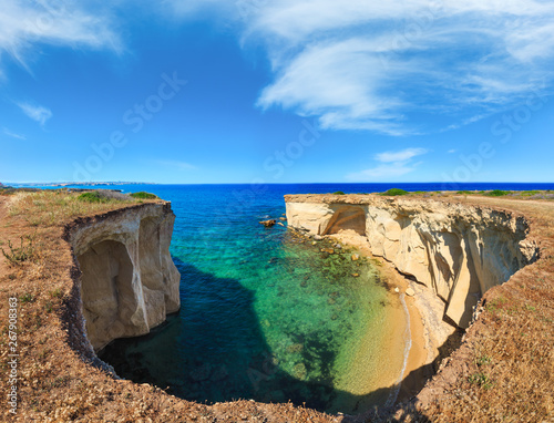 Sicily summer sea coast panorama, Italy Wallpaper Mural