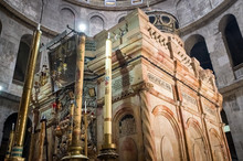 Interior Of Church Of The Holy Sepulchre In Jerusalem, Israel