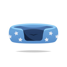 Pet Bed Vector Isolated Illustration