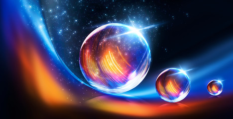 Glass ball, reflection of n...