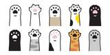 Fototapeta Fototapety na ścianę do pokoju dziecięcego - cat paw vector icon calico kitten footprint logo character cartoon ginger doodle illustration sign