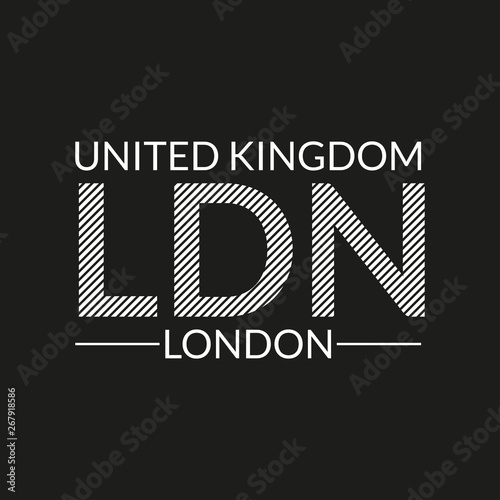 London Text Tee Shirt Typography Design Uk Fashion Poster