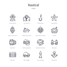 Set Of 16 Nautical Concept Vec...