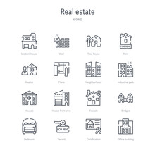 Set Of 16 Real Estate Concept ...