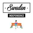 Happy Sweden independence Day Vector Template Design Illustration