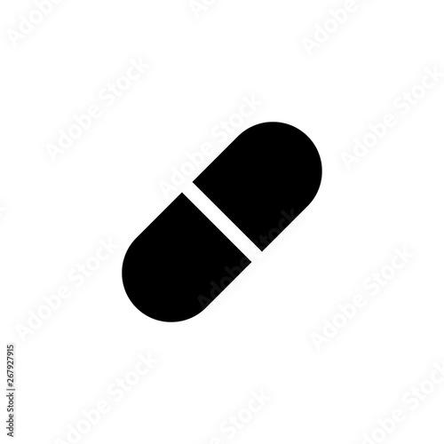 Stampa su Tela capsule medicine icon vector illustration