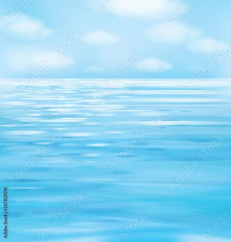 Foto op Aluminium Zee / Oceaan Vector blue seascape background.
