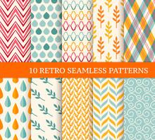 Ten Retro Different Seamless P...