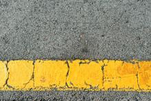 Yellow Strip Of Old Road Marki...