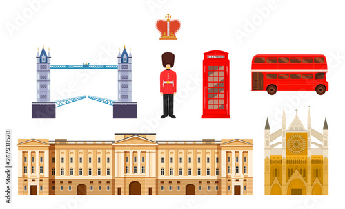 Culture, buildings and attractions of London, Great Britain, United Kingdom Wallpaper Mural