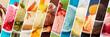canvas print picture - Eiscreme Vielfalt als Hintergrund Header