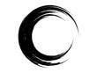 Grunge circle.Grunge paint element.Grunge ink element.Grunge black circle.