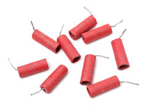 Red Firecrackers On White Back...