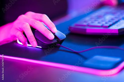 Fotografie, Obraz cyber sport gamer click mouse