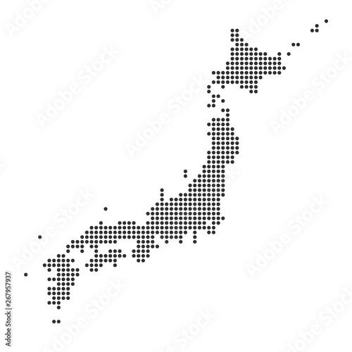 Fototapeta Japonia   mapa-z-kropka