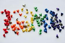 Paper Rainbow Hearts - LGBTQ - Origami