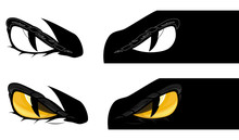 Evil Yellow Eyes Staring From ...