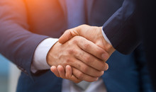 Two Business People Shaking Hands, Businessman, Hand