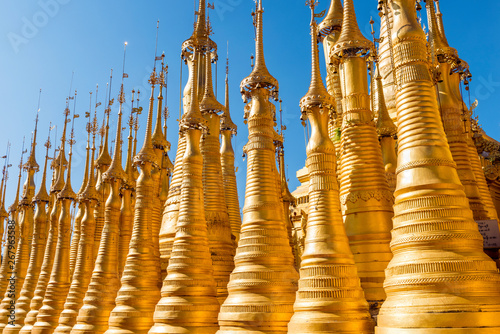 Pagodas at Shwe Indein Pagoda