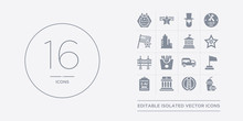 16 Vector Icons Set Such As Fa...