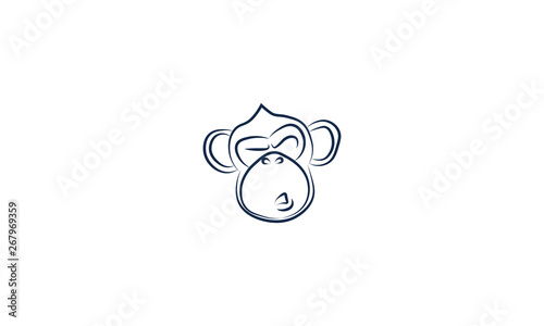 funny monkey with lips stretched Canvas Print