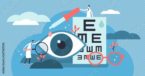 Fotografía  Ophthalmology vector illustration