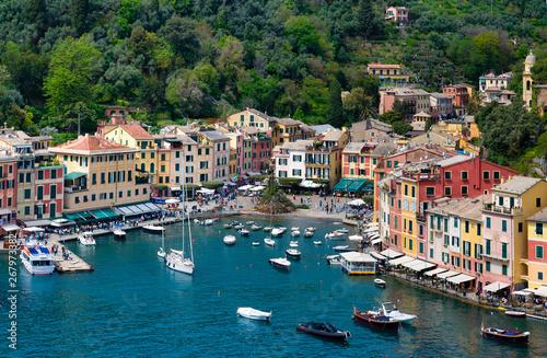 Fototapety, obrazy: Aerial view of Portofino  village.