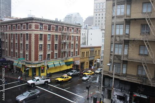 Staande foto New York TAXI Cityscape in San Francisco, California