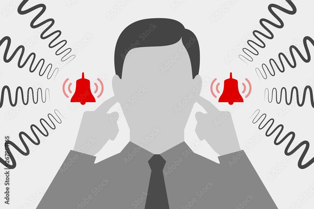 Fototapeta Man are suffering from tinnitus