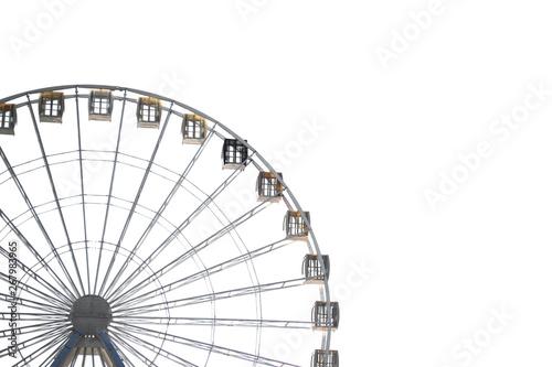 Fototapeta Big city ferris wheel on a background of clean blue sky obraz