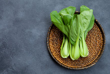 Bok Choy Fresh Salad On Wooden...