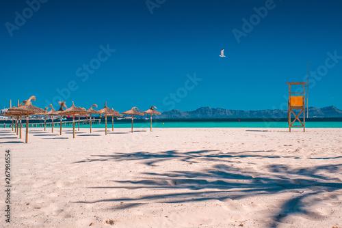 Majorca Platja de Muro beach in Alcudia bay in Mallorca Balearic islands of Spain